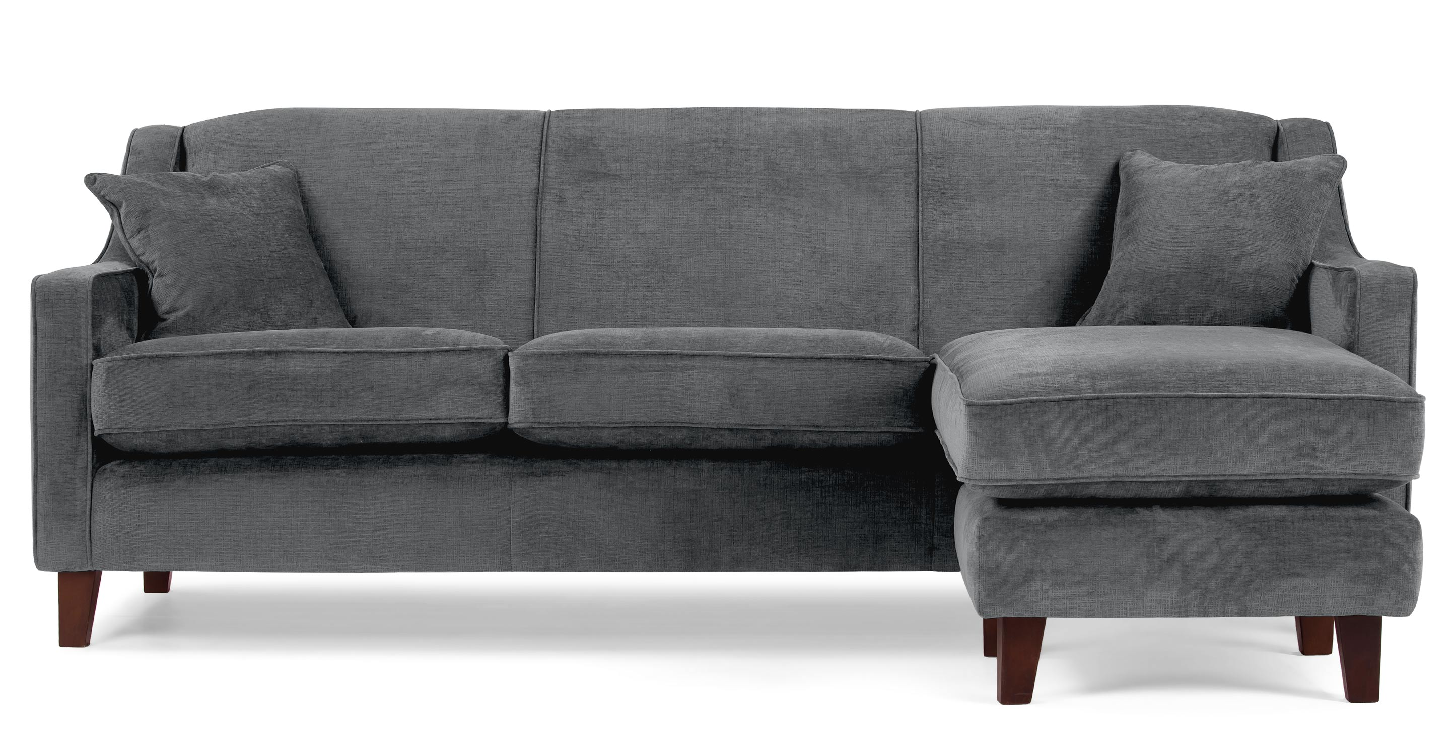 halston large corner sofa in dusk grey. Black Bedroom Furniture Sets. Home Design Ideas