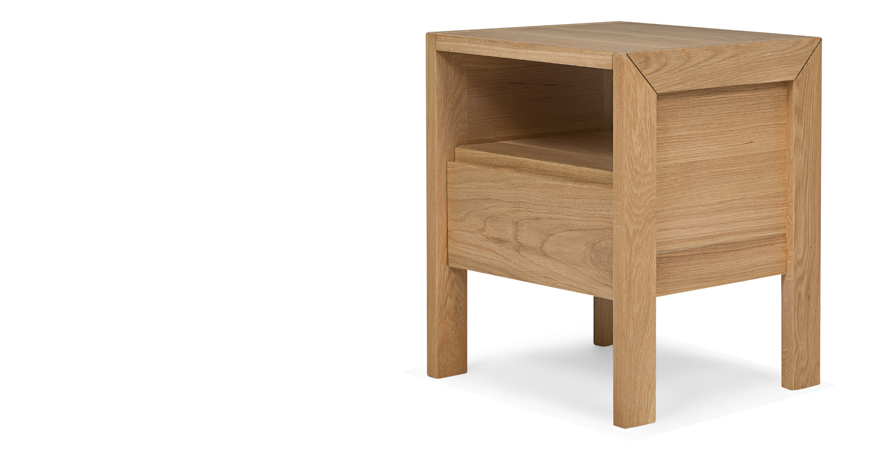 Ledger bedside table in oak - Bedside table ...