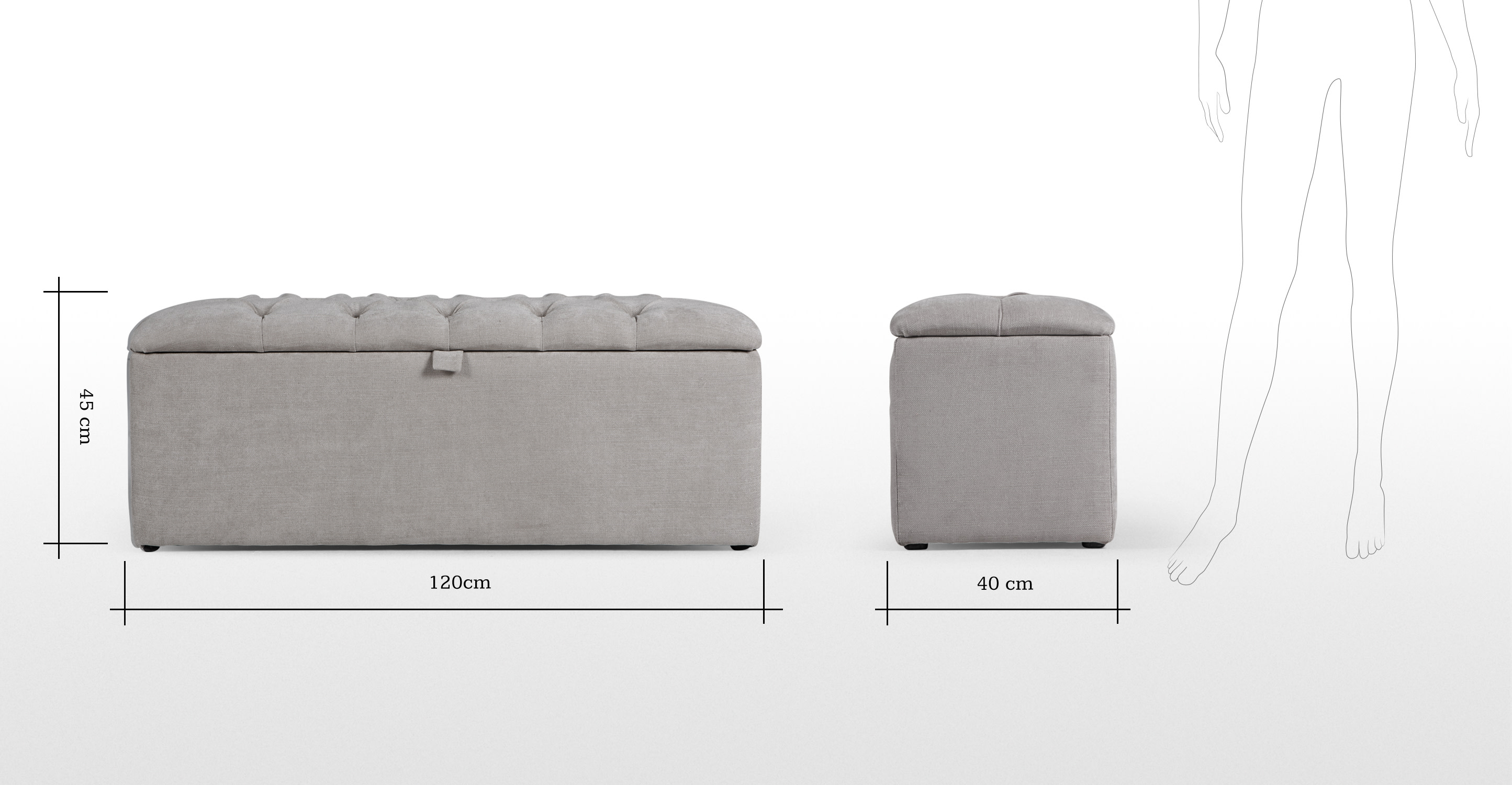 Storage Stool Leather Benches With Storage Leather Storage