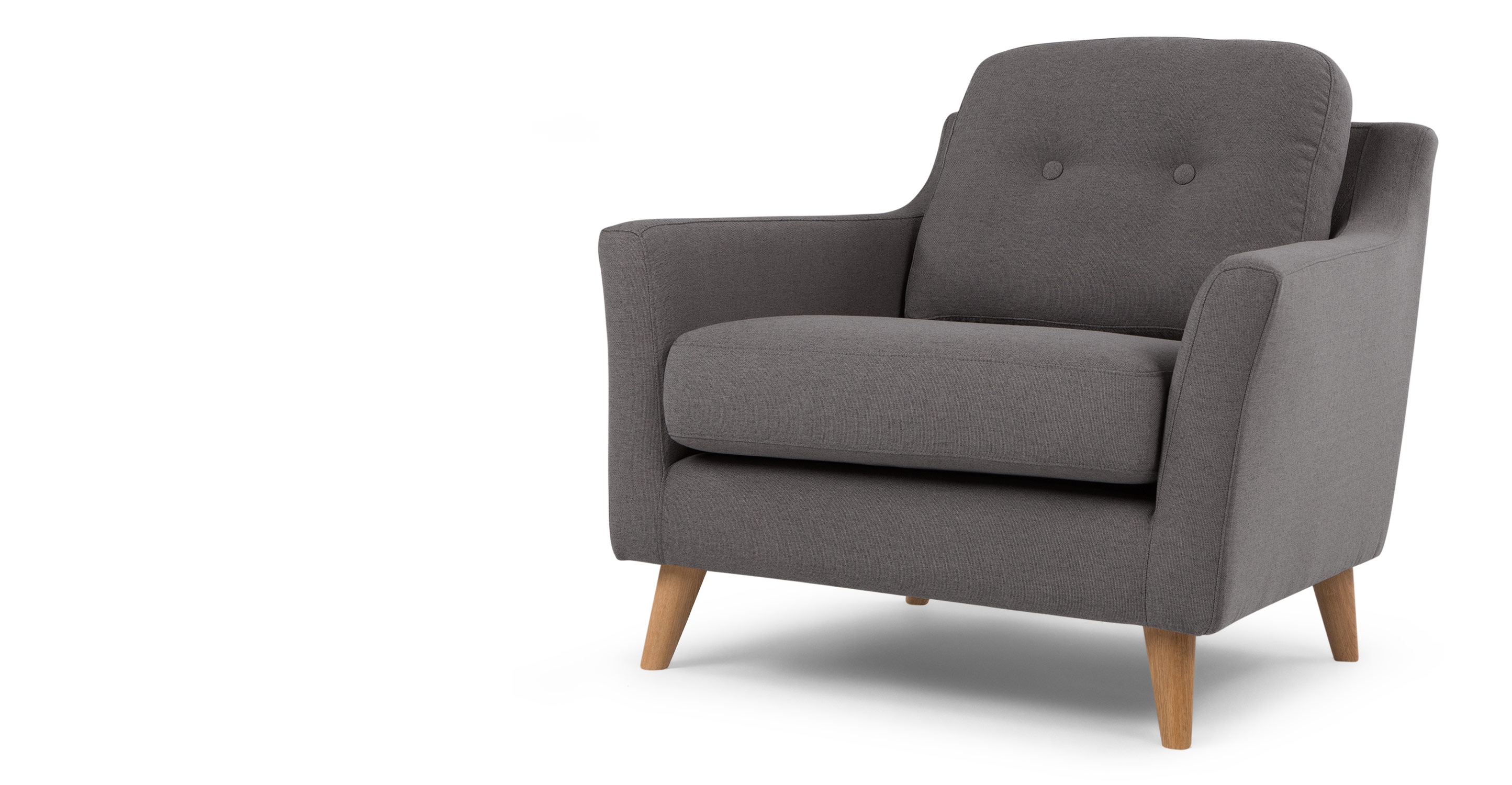 rufus armchair rhino grey made com