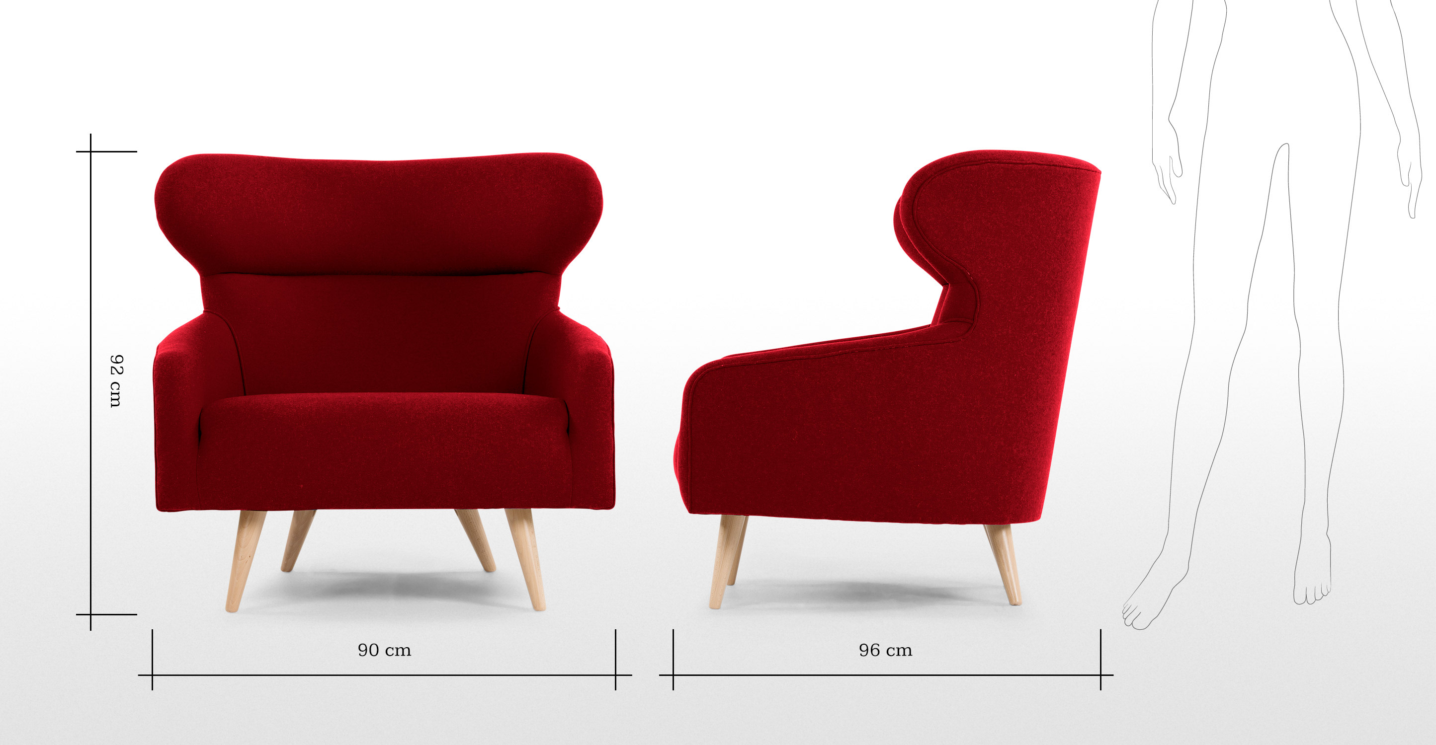 twist un fauteuil rouge cerise. Black Bedroom Furniture Sets. Home Design Ideas