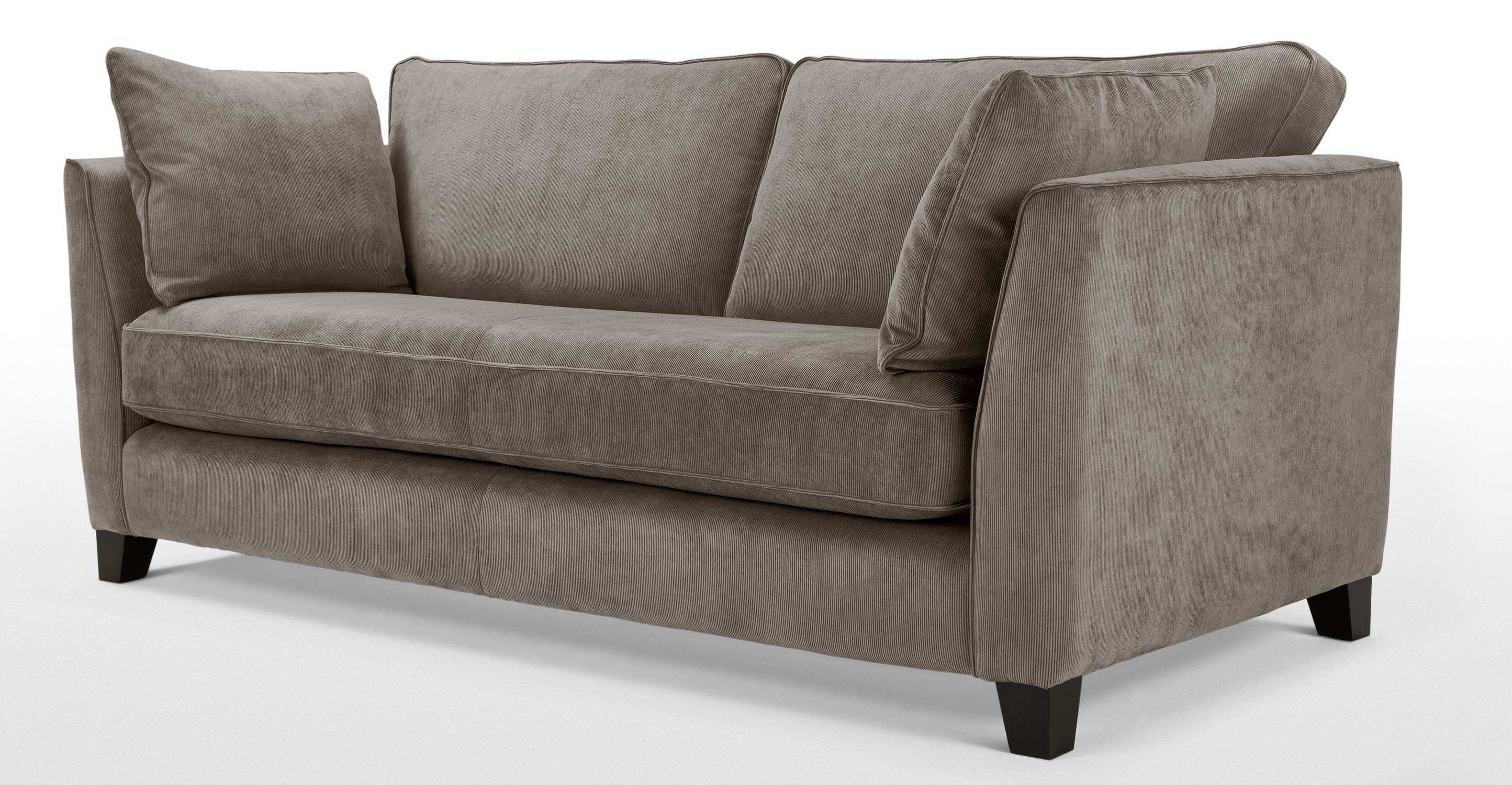 wolseley 3 seater sofa mid grey corduroy. Black Bedroom Furniture Sets. Home Design Ideas