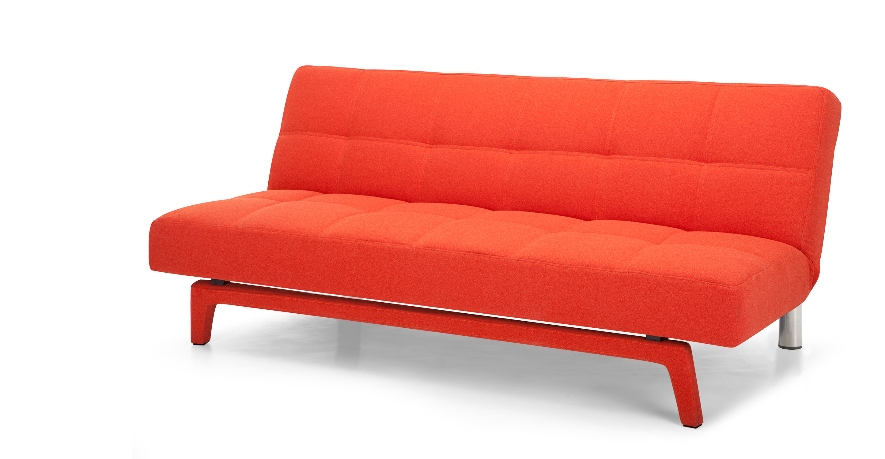 Yoko sofa bed in saffron orange Loveseat sofa bed