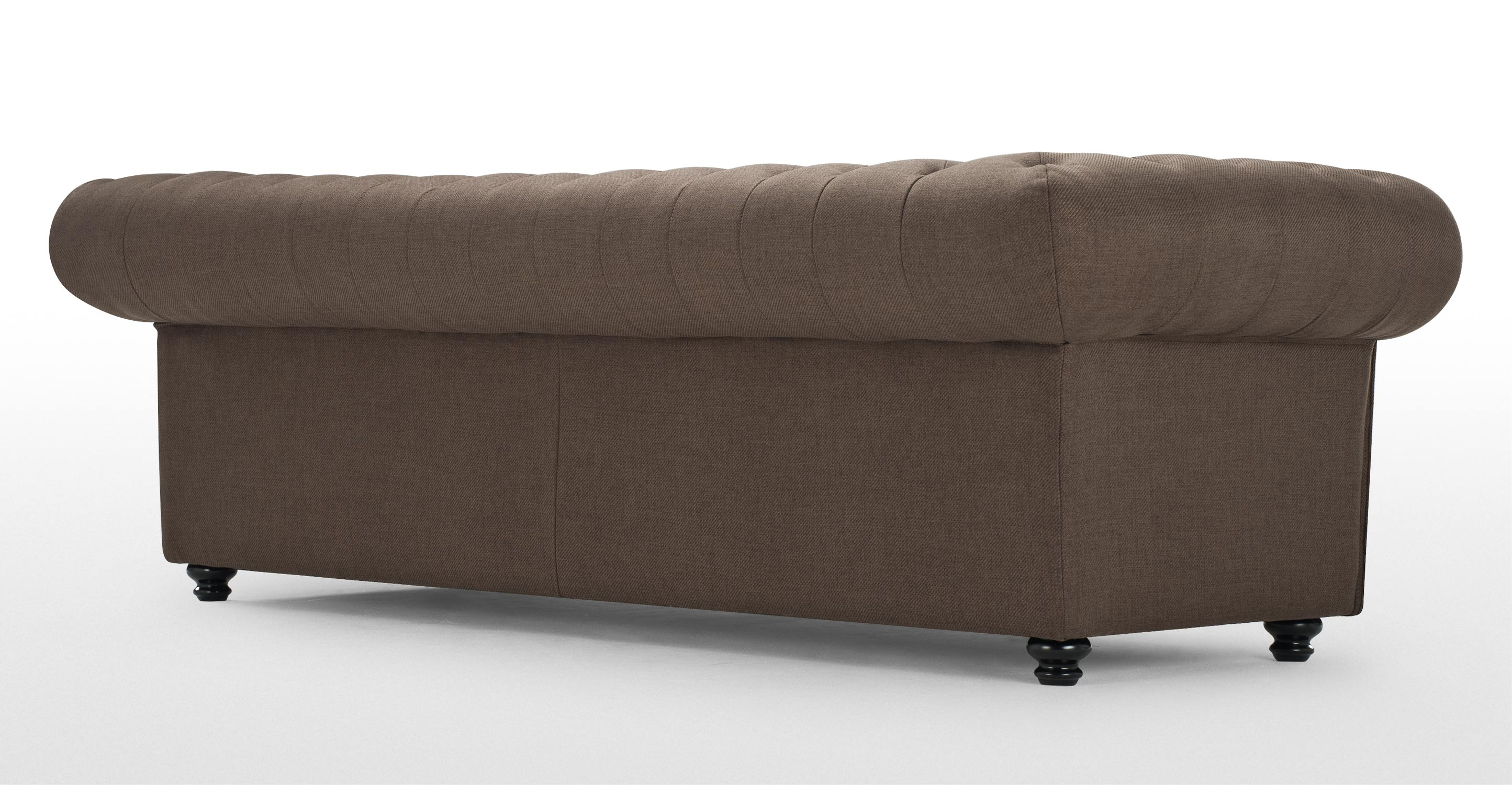 Branagh 3 Seater Brown Chesterfield Sofa made com