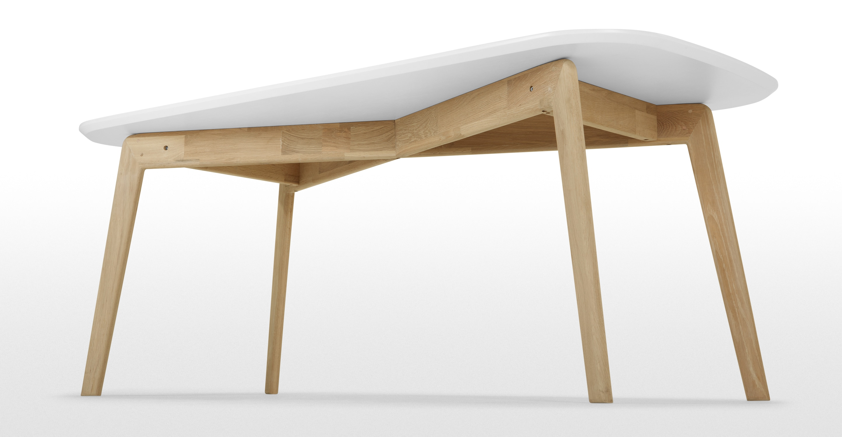 Dante dining table oak and white - Table chene acier ...