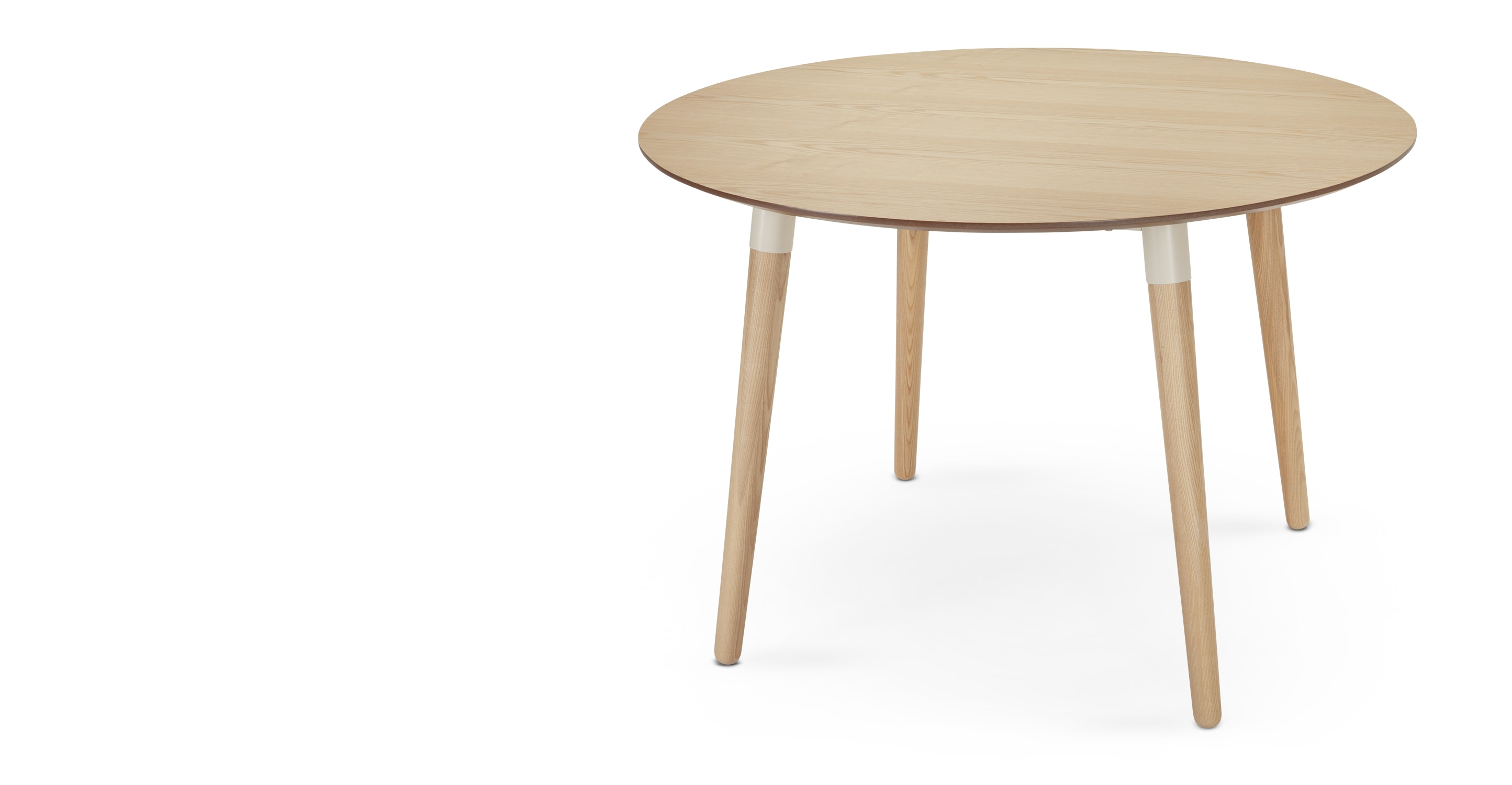 Edelweiss Round Dining Table Ash And White