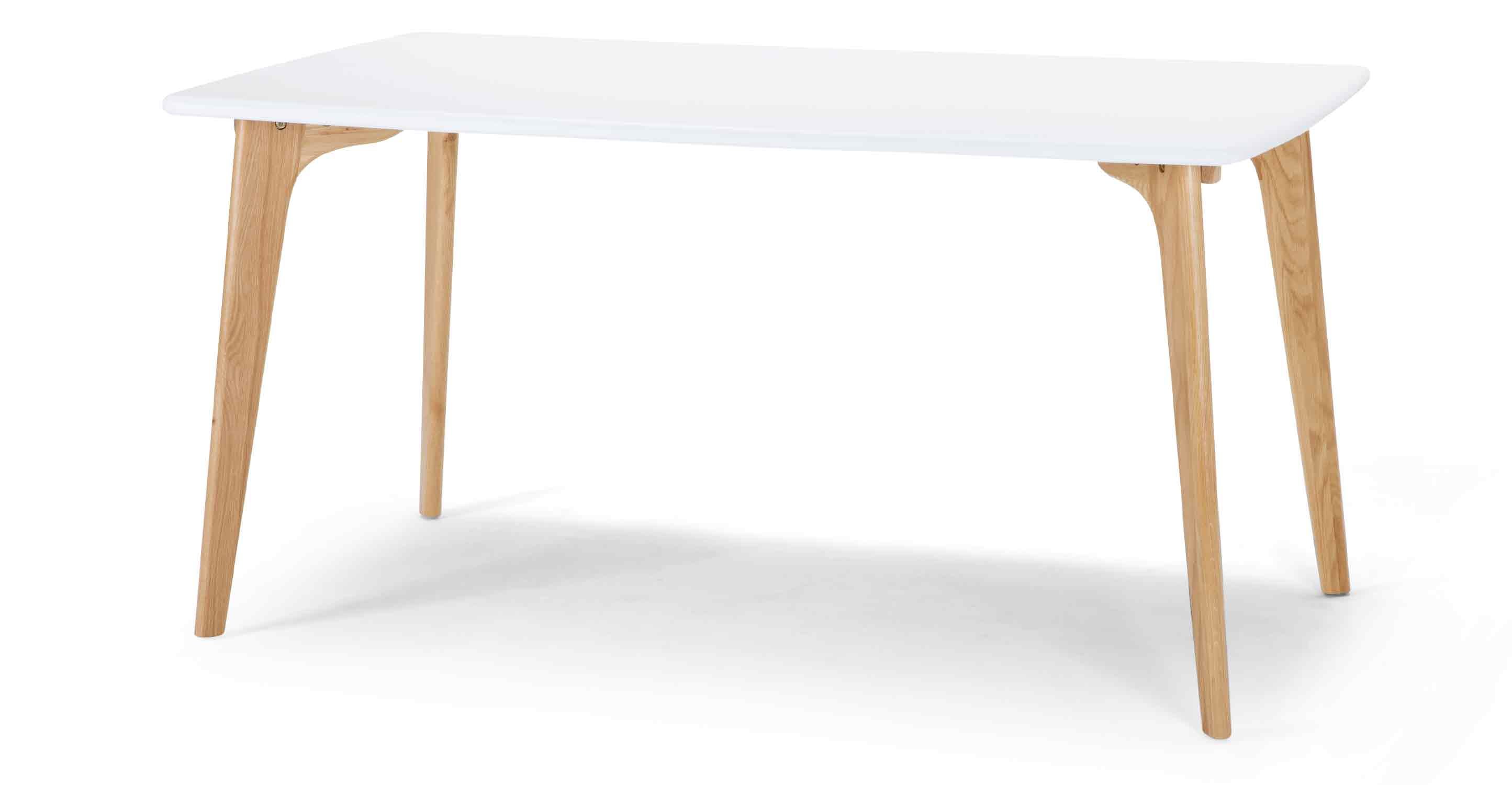 Fjord Rectangular Dining Table In Oak And Grey