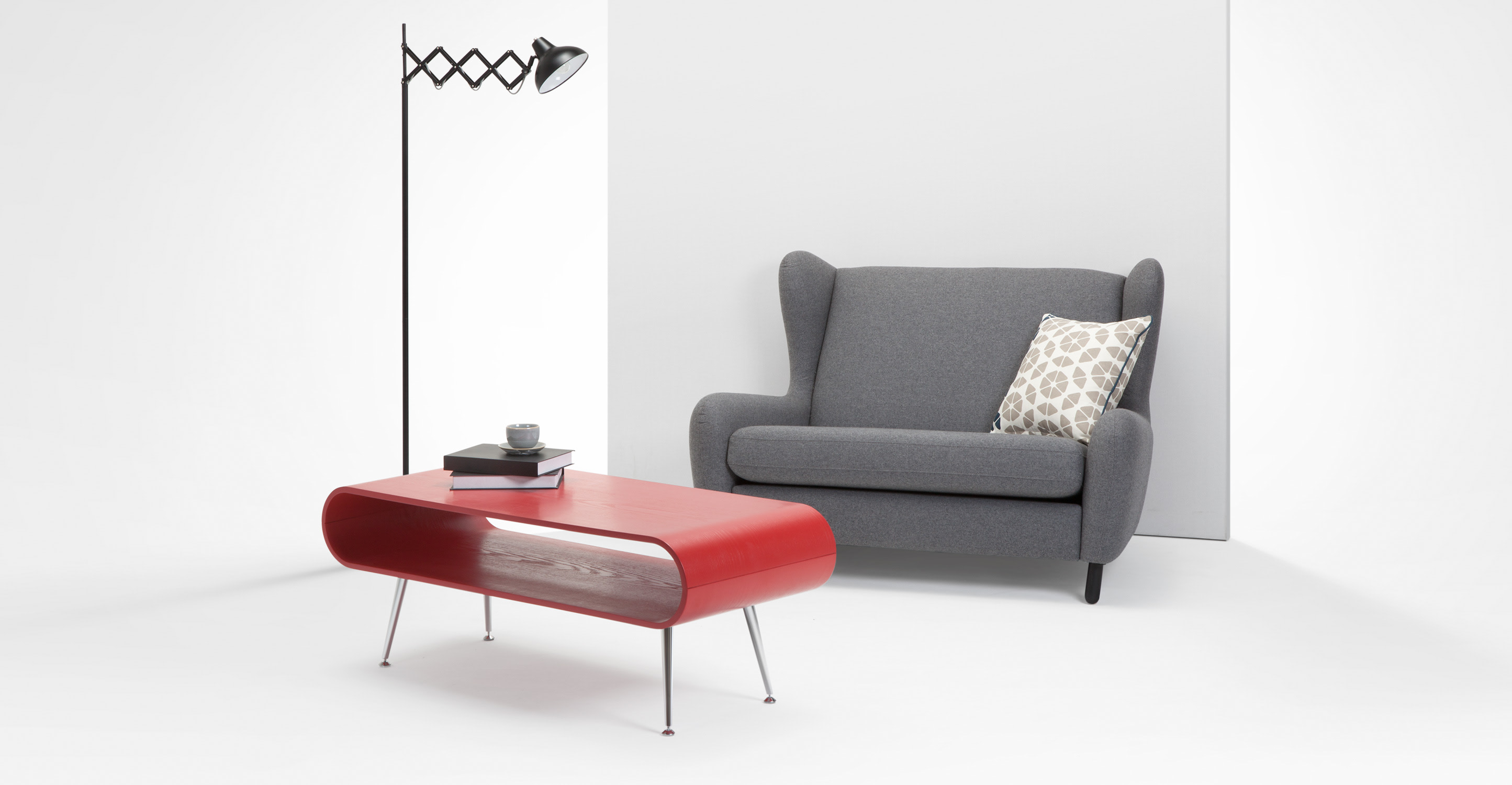 Hooper Storage Coffee Table, Red  madecom