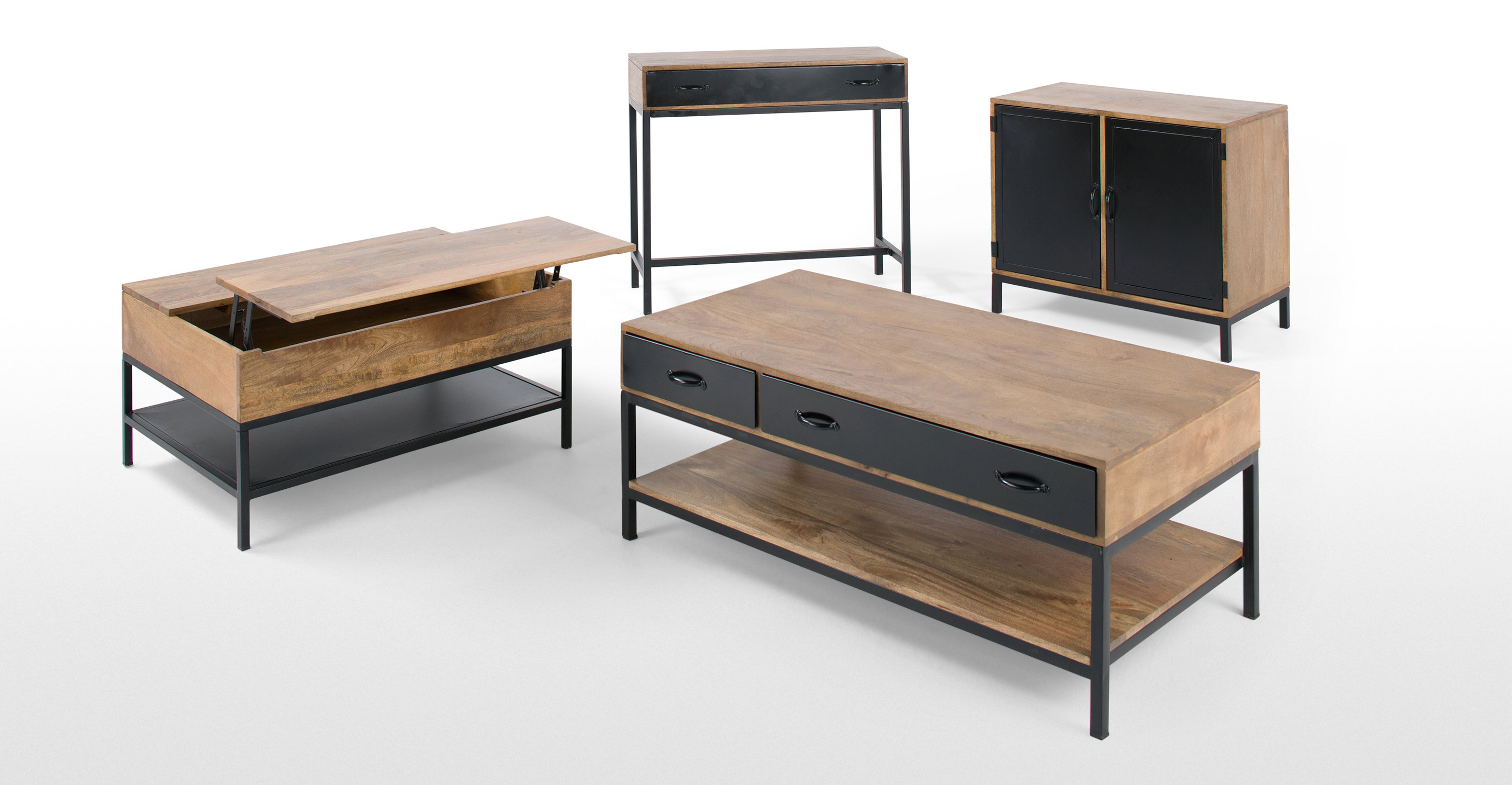 lomond table basse modulable avec coffre de rangement. Black Bedroom Furniture Sets. Home Design Ideas