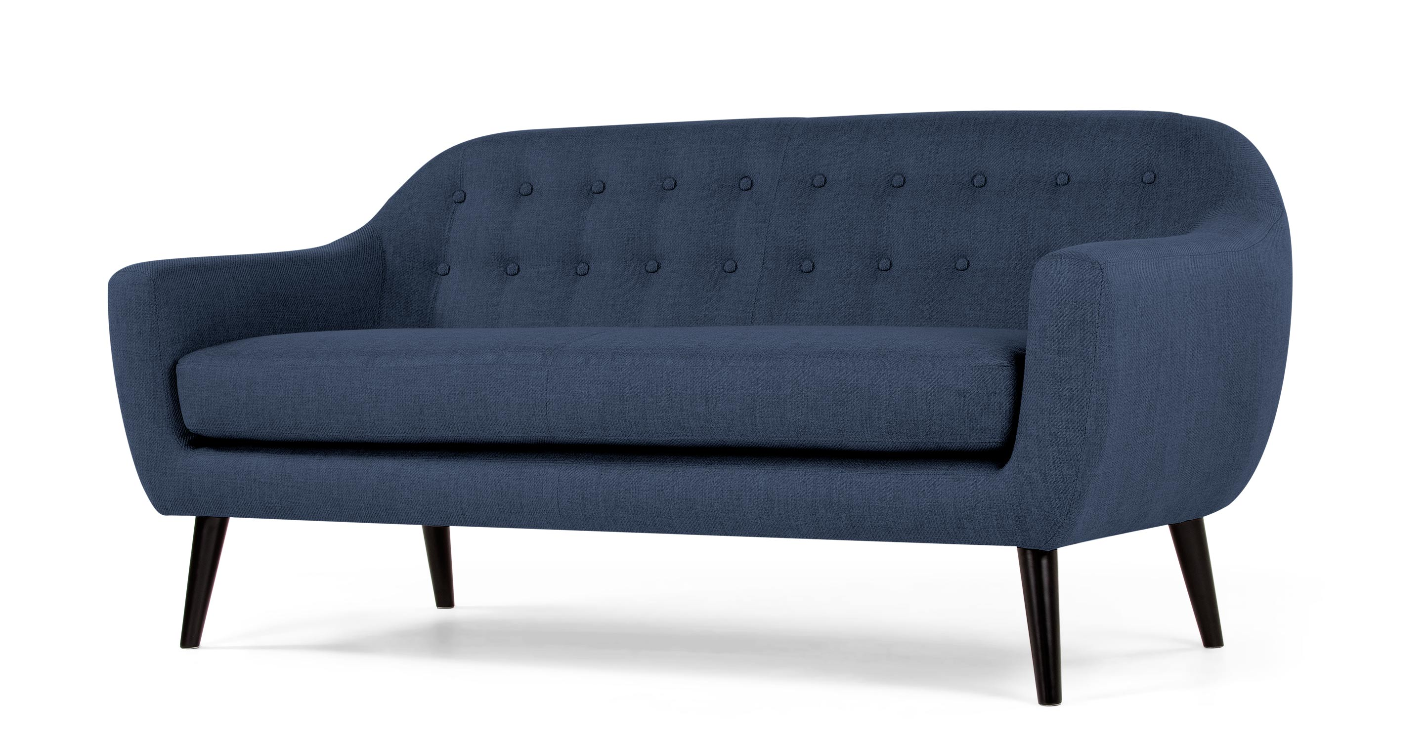 ritchie 3 sitzer sofa in dunkelblau. Black Bedroom Furniture Sets. Home Design Ideas