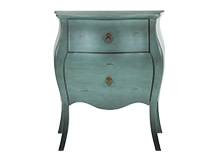 Bourbon Bedside Table, Azure Blue