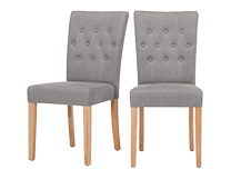 2 x Flynn Dining Chairs, Graphite Grey