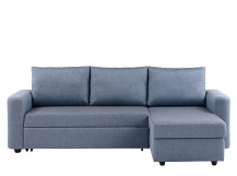Albie Right Hand Facing Corner Storage Sofa Bed, Denim Haze