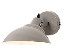 Avery Wall Light, Mid Grey