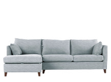 Bari Corner Storage Sofabed with Memory Foam Mattress, Left Hand Facing, Malva Blue Grey