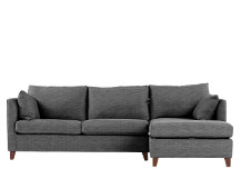 Bari Right Hand Facing Corner Storage Sofa Bed, Malva Graphite