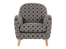 Bertie Accent Chair, Liona Grey