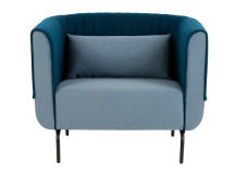 Bienno Armchair, Pigeon Blue and Petrol Teal