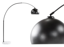 Large Bow Lamp, Matt Black