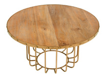 Broxbourne Coffee Table, Brass