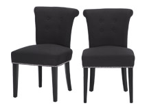 2 x Celia Dining Chair, Midnight Black
