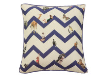 Character Chevron Cushion 45 x 45cm, Marine Blue