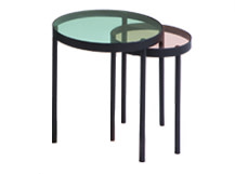 Chroma Nesting Coffee Table, Black and Grey