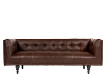 Connor 3 Seater Sofa, Vintage Brown Premium Leather