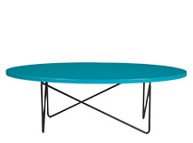Eiffel Coffee Table, Turquoise Blue