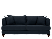 Elliott 3 Seater Sofa, Deep Blue Cotton Mix