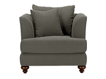 Elliott Armchair, Harrier Grey Cotton Mix
