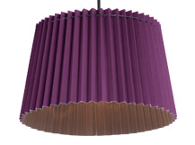 Esker Tapered Pendant Shade, Amethyst and Deep Grey