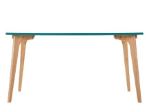 Fjord Rectangle Dining Table, Oak and Jay Blue