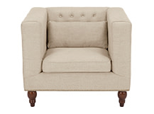 Flynn Square Armchair, Biscuit Beige