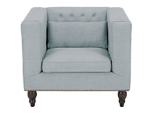 Flynn Square Armchair, Persian Grey