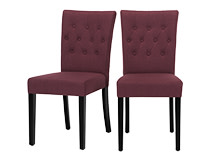 2 x Flynn Dining Chairs, Merlot Red and Black