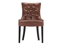 Flynn Scoop Back Chair, Chestnut