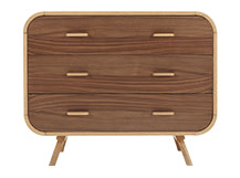 Fonteyn Chest of Drawers, Oak and Walnut