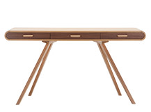 Fonteyn Console Desk, Oak and Walnut