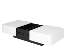 Funda Coffee Table, White Gloss and Dark Oak