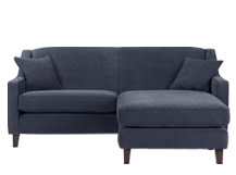 Halston Corner Sofa, Midnight Blue