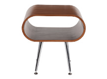 Hooper Storage Side Table, Walnut