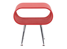 Hooper Storage Side Table, Red