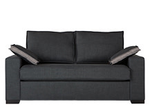 Hugo 2 Seater Sofa Bed, Aston Grey
