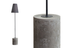 Ira Floor Lamp, Harrier Grey