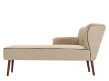 Jersey Left Hand Facing Chaise, Biscuit Beige