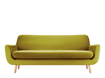 Jonah 3 Seater Sofa, Fennel Green