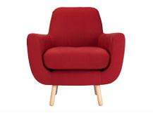 Jonah Armchair, Berry Red