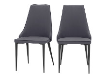 2 x Julietta Dining Chairs, Lead Grey