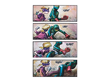 4 x Kick-Ass 2 Hit-Girl, 60 x 24cm, Limited Edition